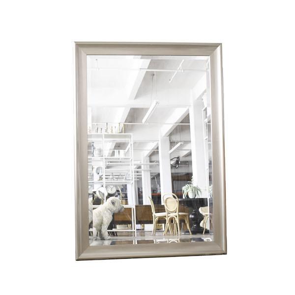 silver frame mirror