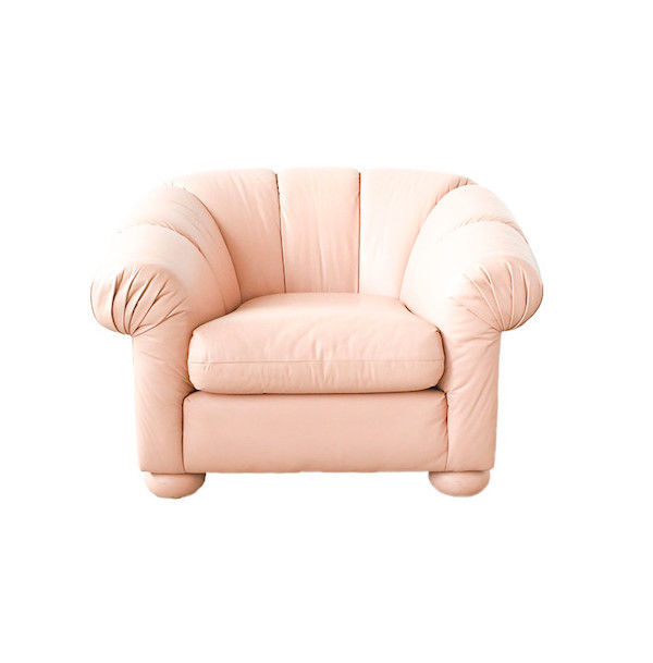 pink leather chair